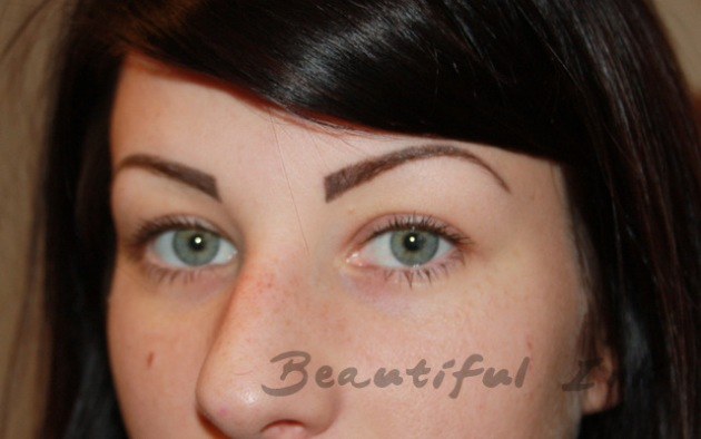 Healed from top up - Densely styled brows