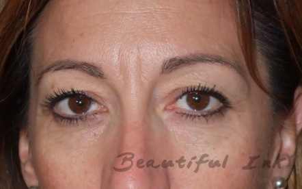 Healed from top up visit - Eyebrows and lash definer