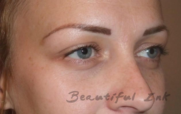 Healed from top up visit - Mid density feathered brows