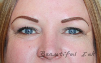 After - Beautifully styled brows