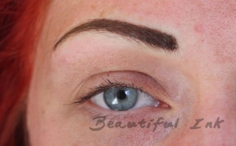 After - Densely feathered brows