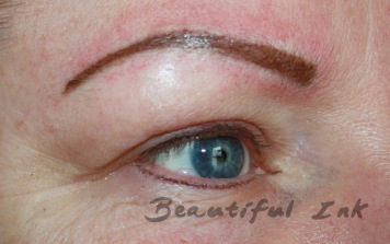 After Lash Definition, brown bottom, black top. Topped up eyebrows