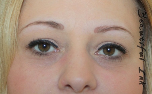 Healed permanent eyebrows