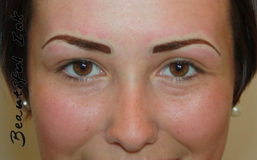 Freshly tattooed after first visit Creating Eyebrows £400 for two visits